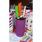 Подставка для ножей фиолетовая