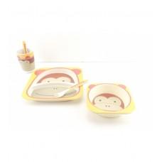 Посуда детская бамбук 5 предметов/набор