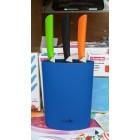 Подставка для ножей голубая